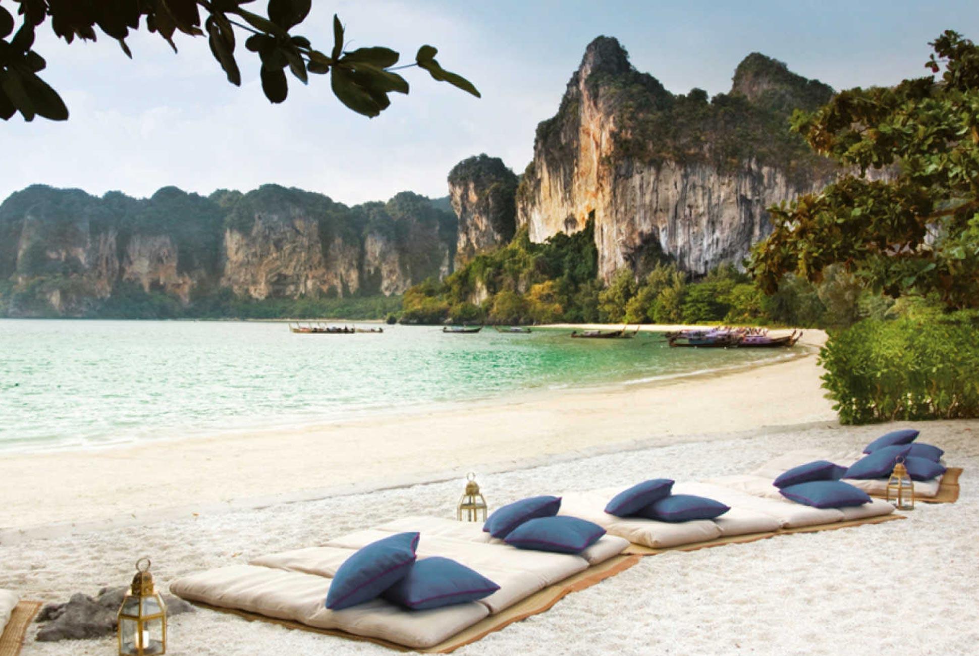 Beach view from the Rayavadee Krabi