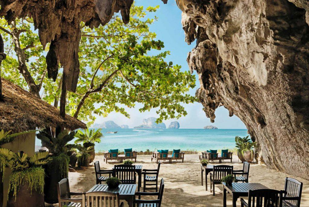 Cave Grotto restaurant at the Rayavadee Krabi