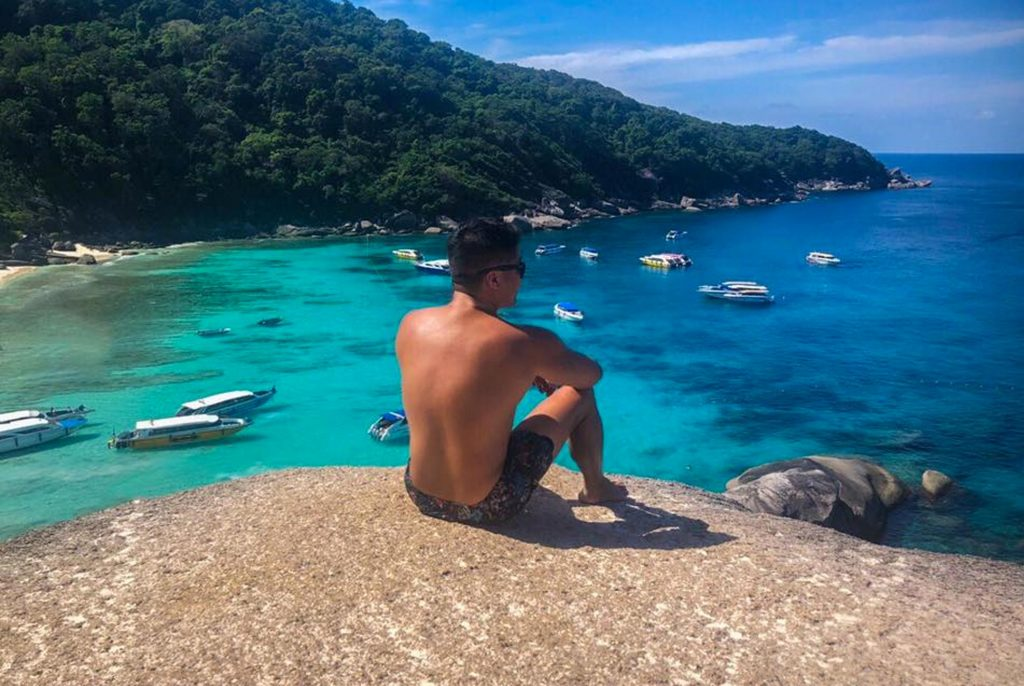View from the top of one of the Similan Islands
