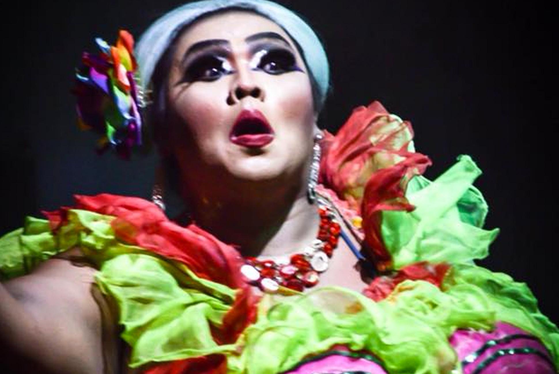 Performer at Khao Lak's Moo Moo Cabaret