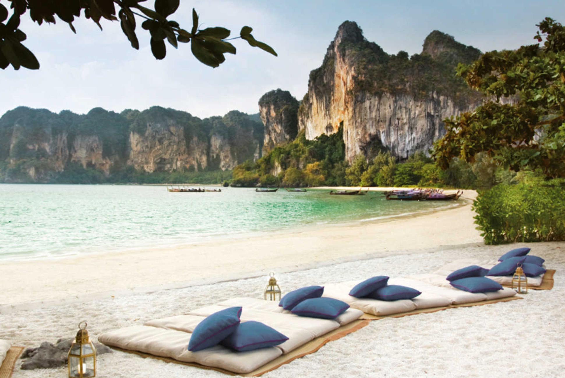 Beach view from the Rayavadee Krabi