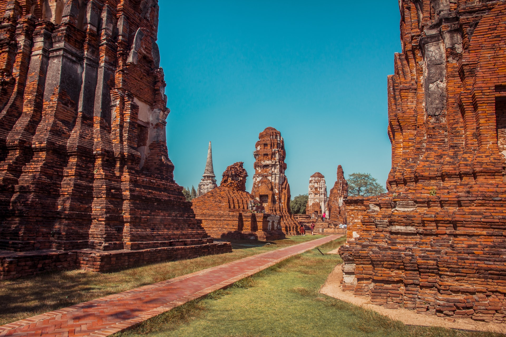 Ancient temple ruins in Ayutthaya, Thailand