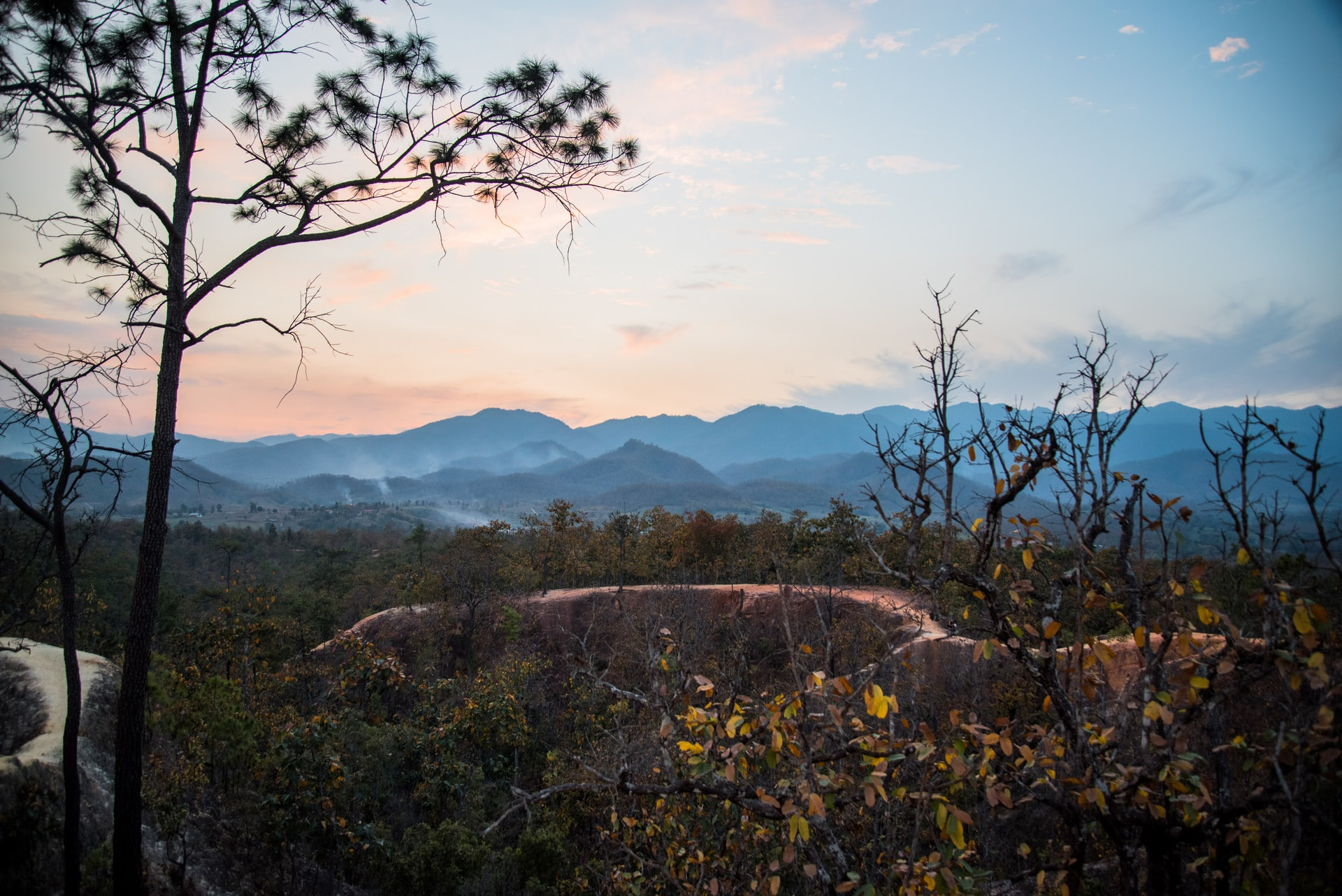 Sunset over Pai Canyon, Pai, Thailand
