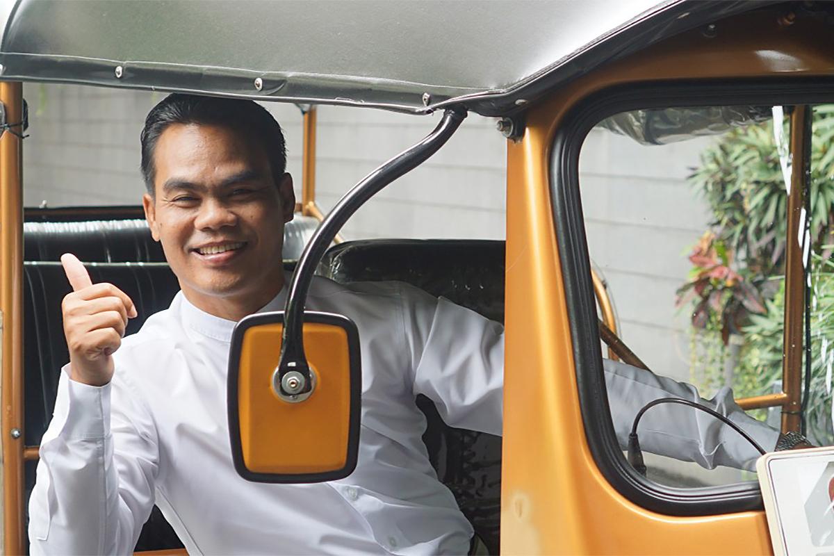 A tuk tuk driver at VIE Hotel, Bangkok, Thailand