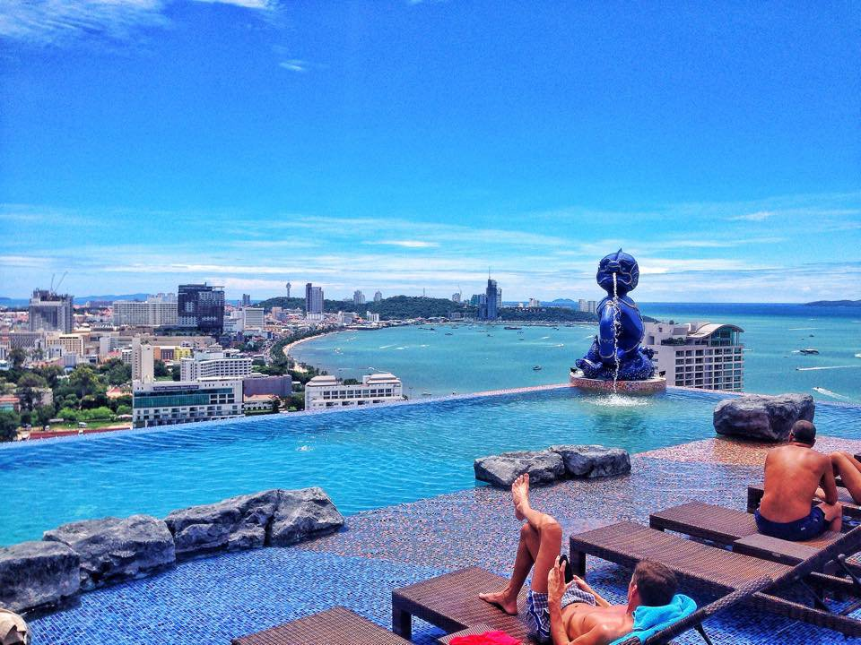 The rooftop pool at Siam @ Siam Design Hotel, Pattaya