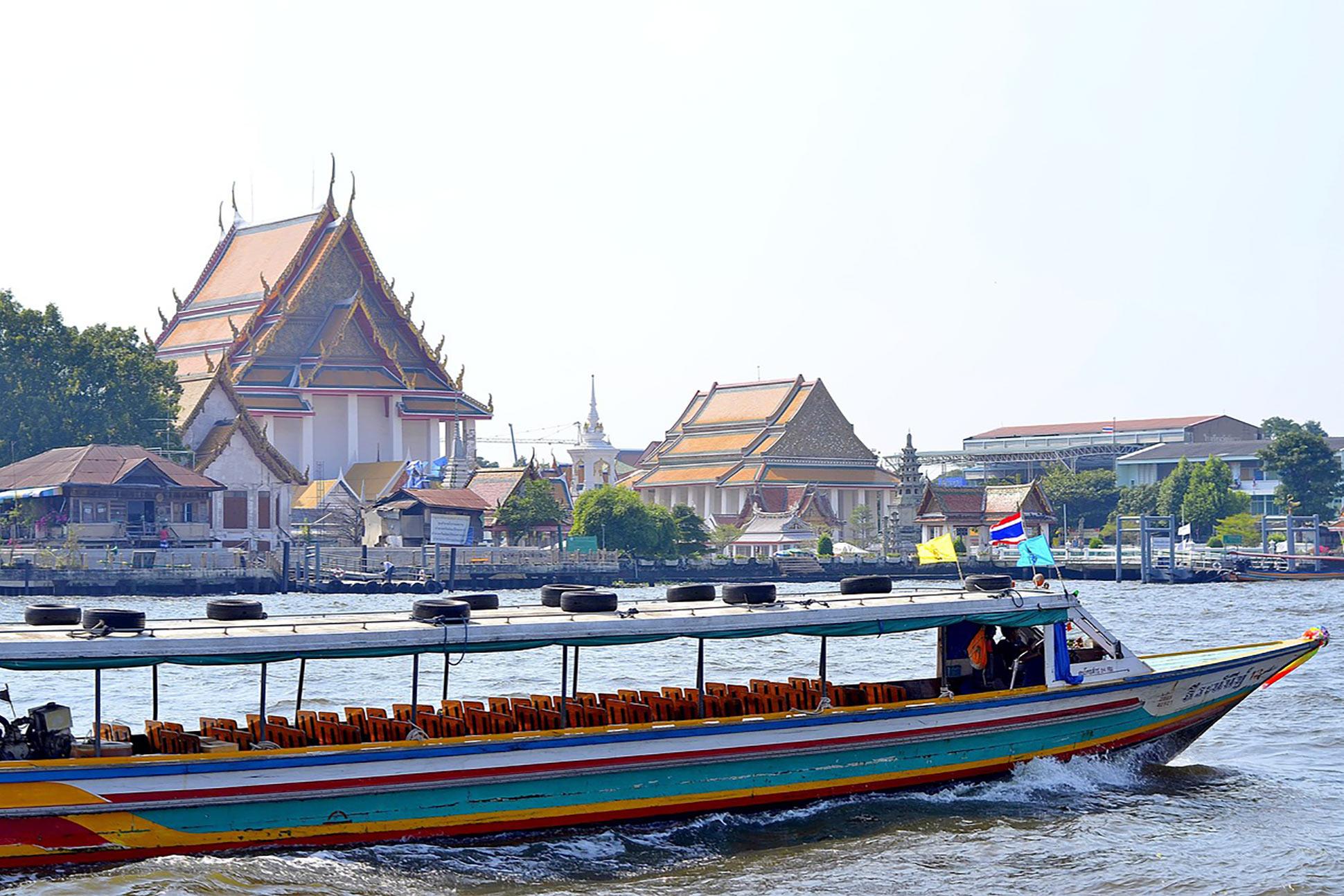 A boat on the Chao Phraya River, Bangkok, Thailand