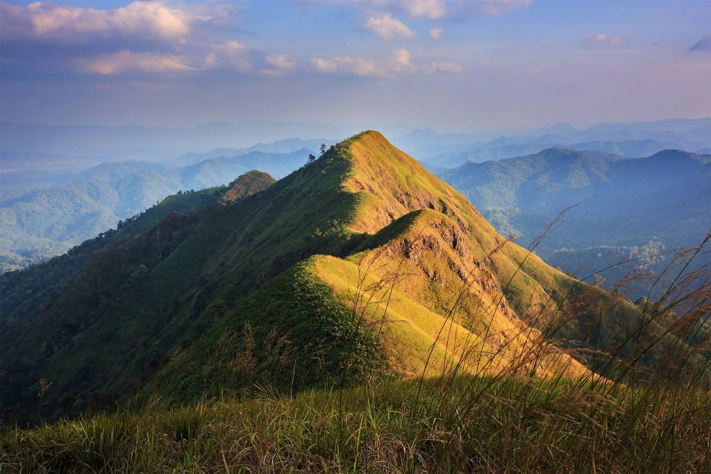 View of Khao Chang Phueak mountain in Thong Pha Phum National Park, Kanchanaburi Province, Thailand