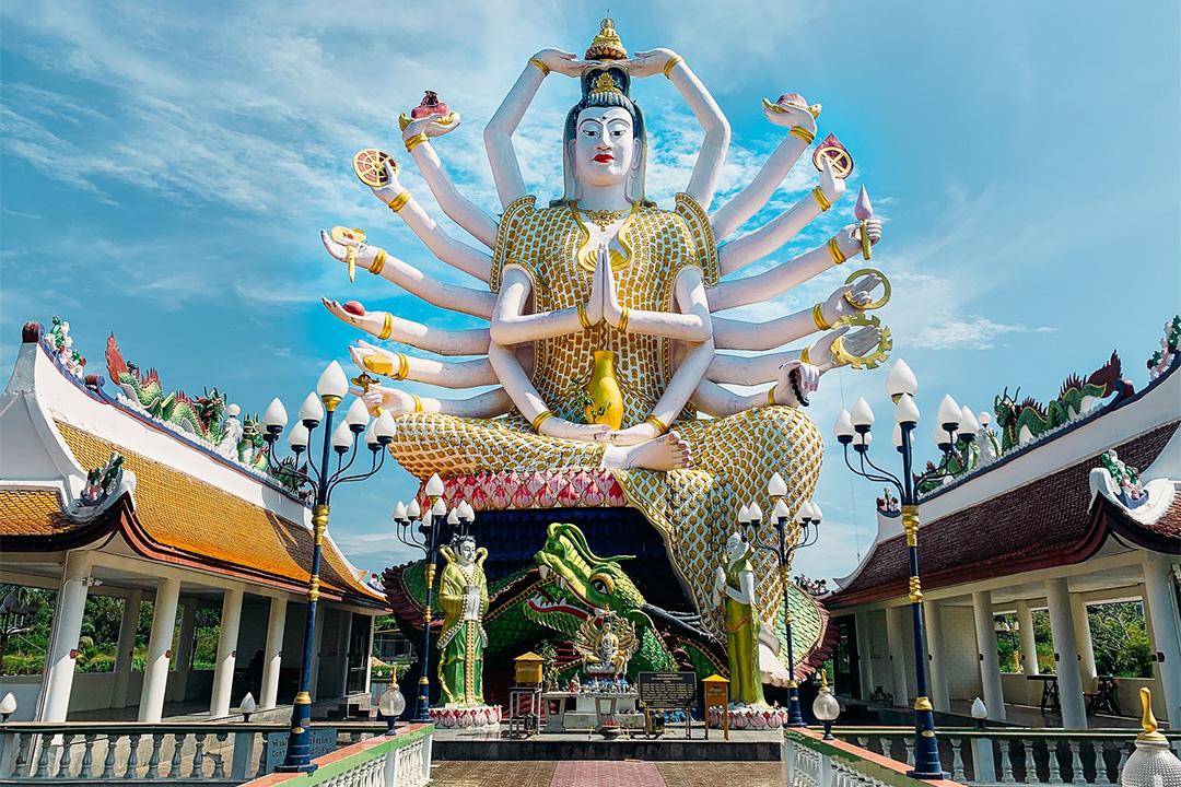 Wat Plai Laem on Koh Samui in the Gulf of Thailand, Thailand