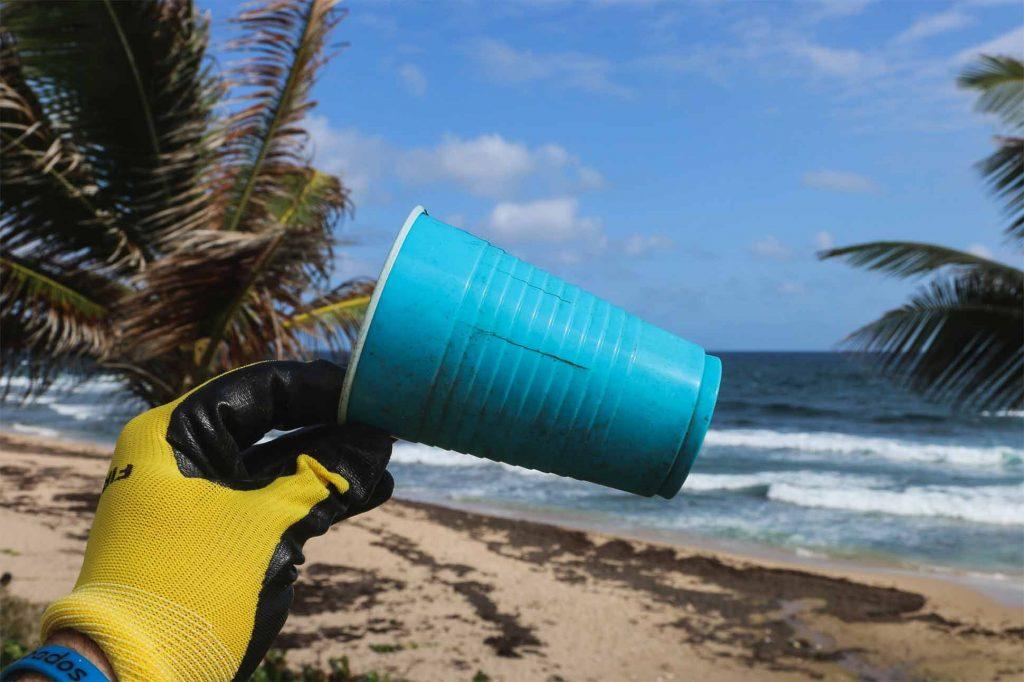 Plastic beach clean-up in Thailand