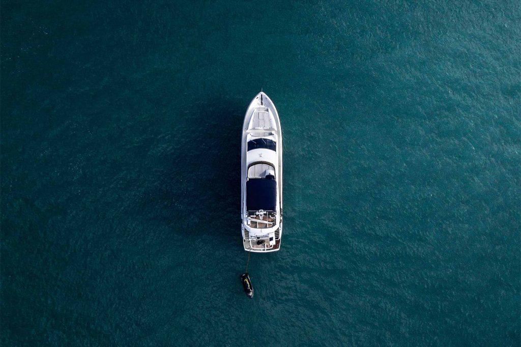 A yacht off the coast of Phuket, Thailand