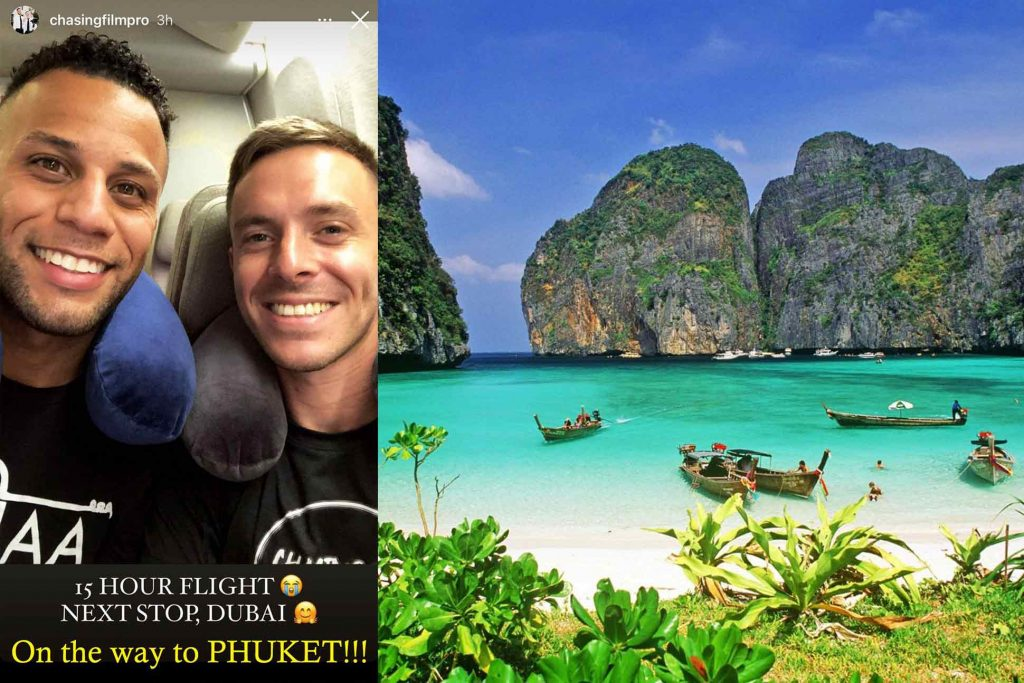Chase and Allen on route to their gay wedding in Thailand
