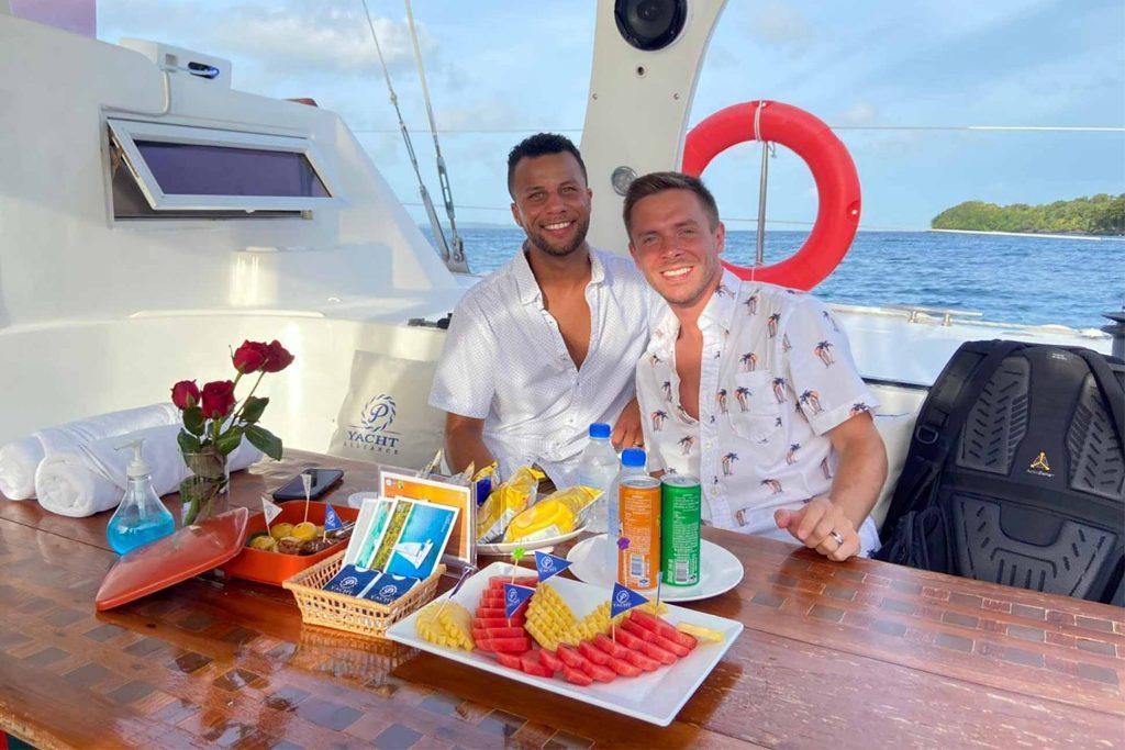 Chase and Allen enjoy their honeymoon in Phuket, Thailand