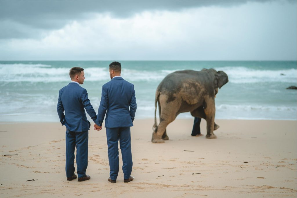 Chase and Allen say yes in a romantic ceremony in Phuket